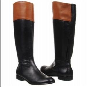 Coral Como Samual two toned leather riding boots